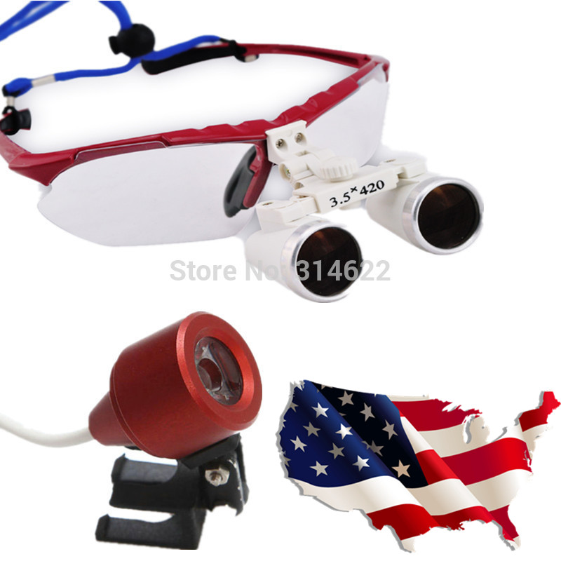 3.5X420mm Dental Loupes Magnifying Glass Medical Surgical Loupes Medical Loupes Head Loupes with LED Light highquali 6 5x kepler binocular medical magnifying glass surgical loupes dental loupes medical loupes with led light fd 501 k 1
