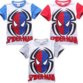 2016 Baby Boys Spiderman Short Sleeve Shirt And Shorts Children Sets Kids Summer Outfits Clothes Sets New Age 1-7 Years