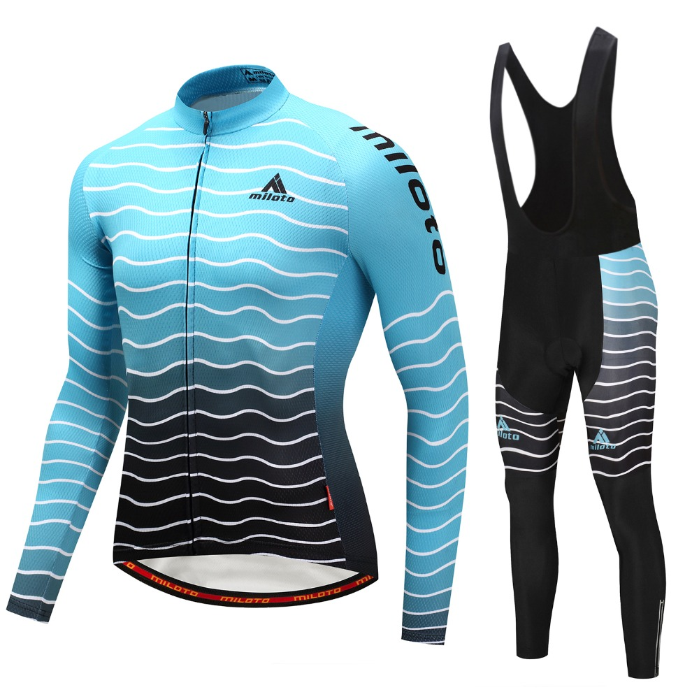 Long Sleeve MTB Bike Clothing Pants Ciclismo Pro Team Cycling Jersey Set Bicycle Outdoor Sport Road
