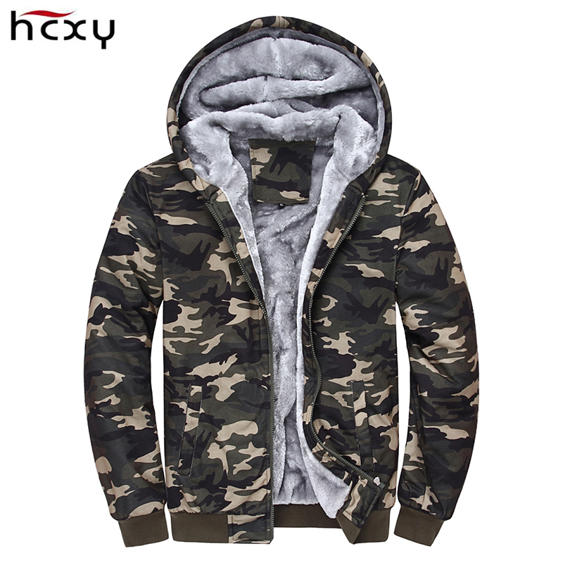 2017 Men Camouflage Jackets Coats Men's Winter Casual Fashion Slim Fit Wadded Hooded JacketsVeste Homme Parkas Jaqueta Maculi