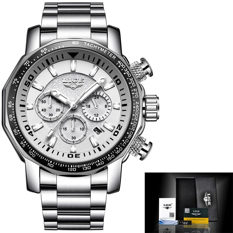 LIGE Heren Horloges Topmerk Luxe Waterdicht 24 uur Datum Quartz - Herenhorloges - Foto 2