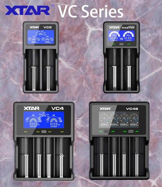 XTAR VC2 VC2 cộng với VC4 VC2S VC4S battery charger cho 10440/16340/14500/14650/18350/ 18500/18650/18700/21700/20700/17500