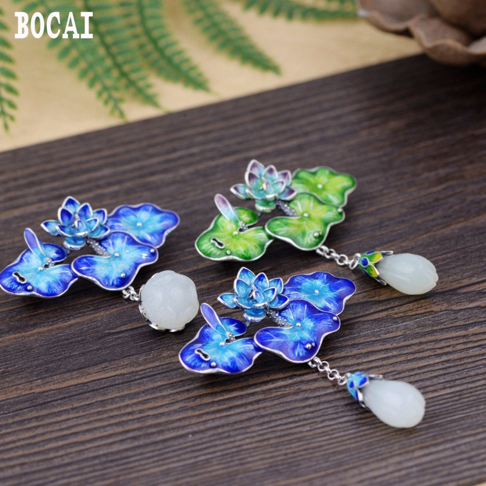 S925 sterling silver mosaic Natural stone Thai silver beautiful burning blue brooch female models pendants new products s925 sterling silver inlaid natural stone thai silver beautiful burning blue brooch female pendant new products