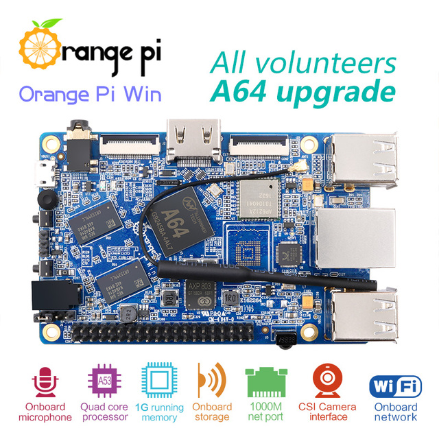 Orange Pi Win Development Board A64 Quad-core Support linux  and android  Beyond  Raspberry Pi 2 Wholesale is available