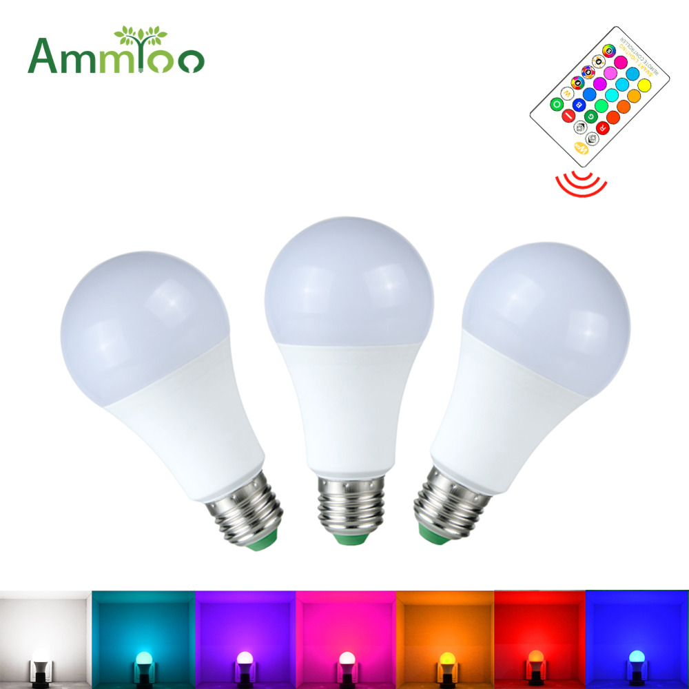 Led Bulbs Rgb Led Bulb E27 E14 16 Color Changing Light Candle Bulb Rgb Led Spotlight Lamp Ac85 265v Rgb Led Lamp