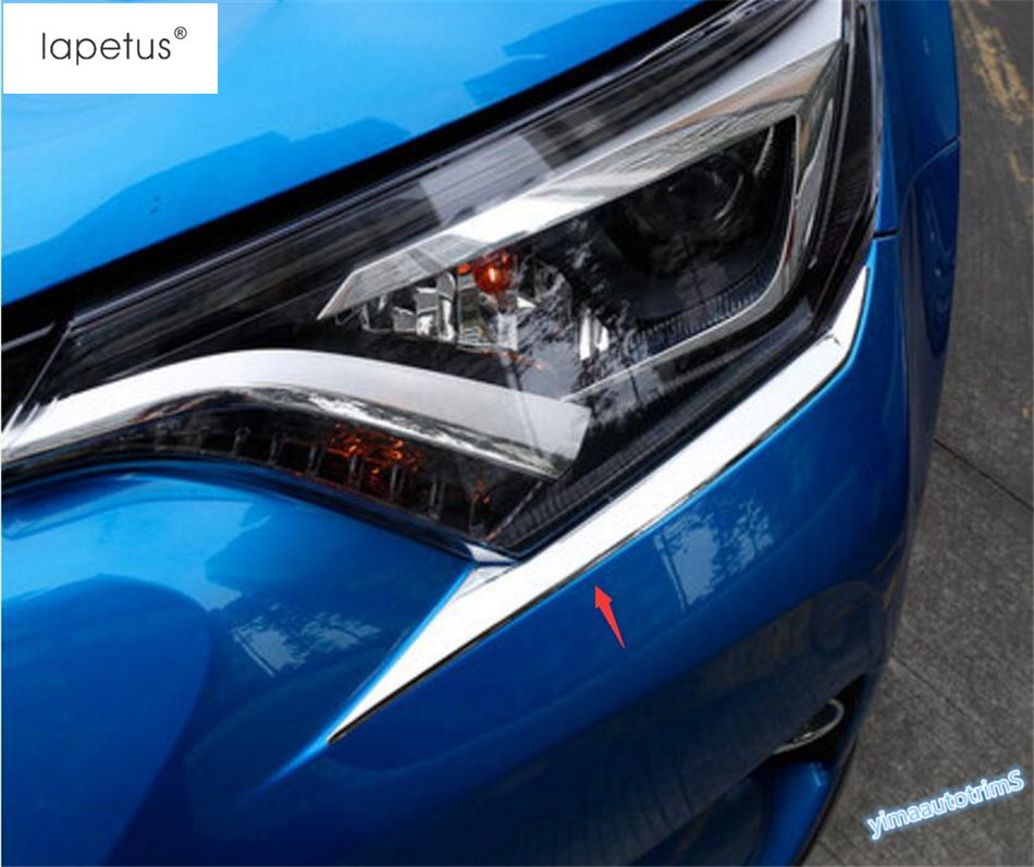 Accessories For Toyota Rav4 Rav 4 2016 2017 Front Head Light Lamp Eyebrows Eyelid Lid Protector Molding Cover Kit Trim 2 Piece