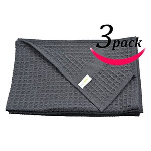 Image 5 - Sinland 400 GSM Microfiber Waffle Weave Towel Kitchen Dish Drying Towels Cleaning Cloth 16inch X 26inch 40cmx66cm Black 3 Pack