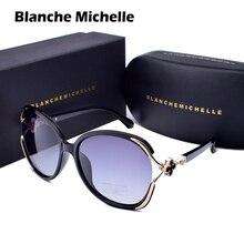 Oversized polarizado óculos de sol mulher uv400 lente gradiente luxo óculos de sol das senhoras do vintage mulher 2020 com caixa Sunglasses Women Polarized