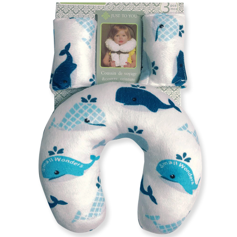 Baby U-shape Pillow Boy Girl Cartoon Printing Infant Back Cushion Protect Cervical Spine Convenient Breastfeeding Pillow