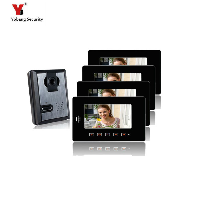 Yobang Security Waterproof Door Access Control camera Video intercom system color 7screen video doorbell phone Apartment villaYobang Security Waterproof Door Access Control camera Video intercom system color 7screen video doorbell phone Apartment villa