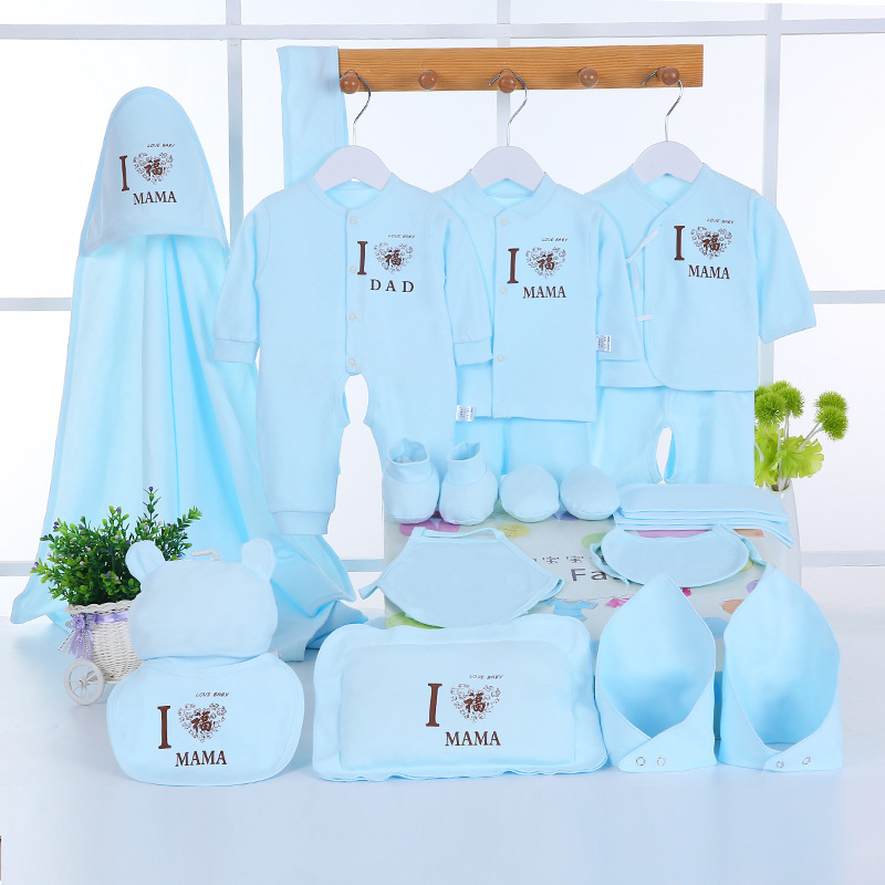Emotion Moms Newborn Baby Clothing Set Brand Baby Boy/Girl Clothes Set New Born Baby Clothes Underwear 100% Cotton 22PCS/set baby girl clothes baby winter suit spring and autumn warm baby boy clothes newborn fashion cotton clothes two sets of underwear