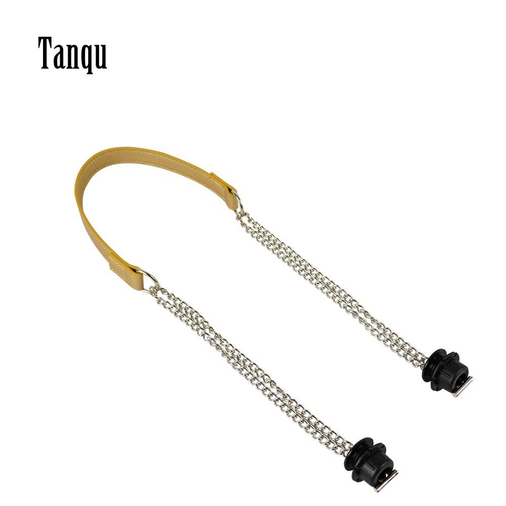 Tanqu 1 Piece Obag Silver Long  Double Chain OT T OBag Handles For Obag EVA O Bag Totes Women Bag Shoulder HandBag