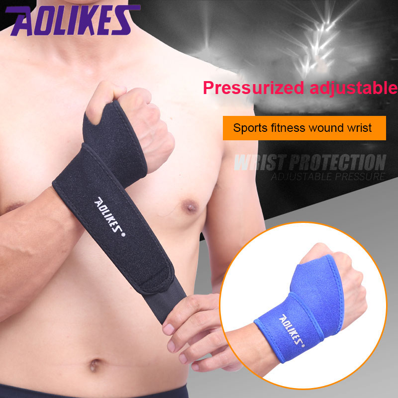 1PCS Breathable wrist hand support fitness sport outdoor elastic Brace sleeve Sports bandage sports safety protection man