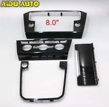 For VW Passat B8 Radio frame PANEL CD Plates Air Conditioning Switch Piano Paint Black