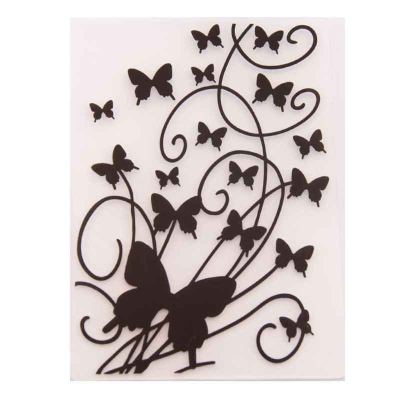 Plastic Embossing Folder Template DIY Scrapbook Photo Album Card Making Decoration Crafts Butterfly