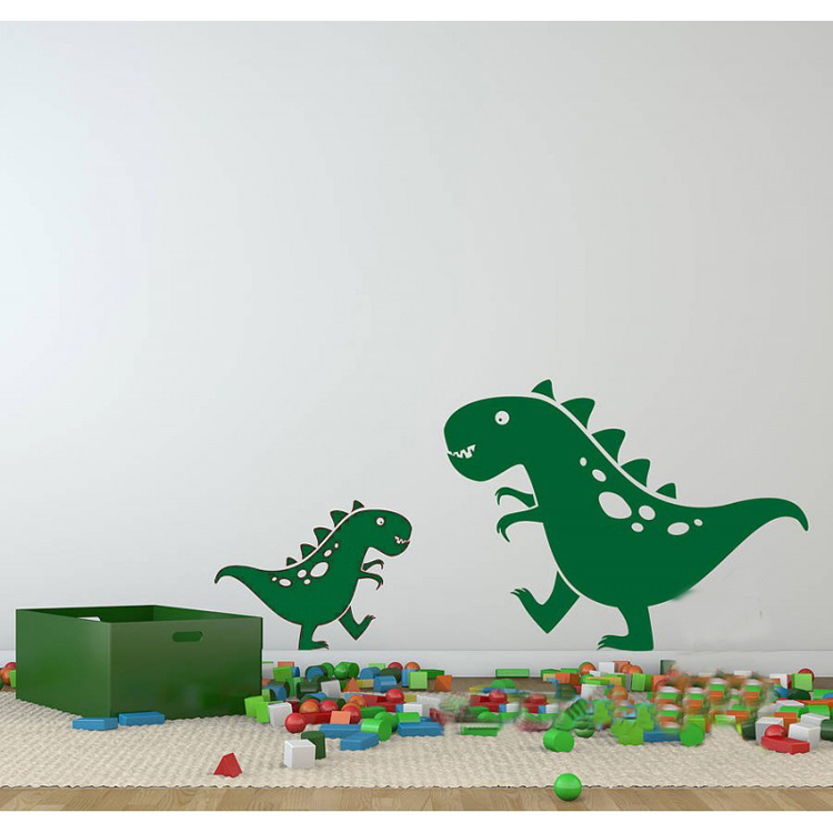 Cute Dinosaurs Vinyl Baby Wall Stickers Kids Wall Decals Wallstickers for Kids Boys Room Wall Decoration