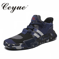 Ceyue New Men's Running Shoes Big Size Sneakers Camouflage Lifestyle Sport Shoes For Outdoor Walking Jogging Training Gym Shoes