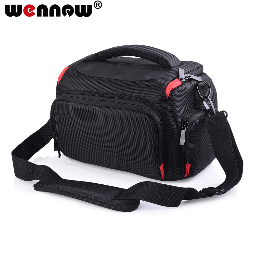 wennew DSLR Camera Bag Case Shoulder Bag Waterproof Case for Nikon Canon Pentax Sony Olympus Cover photography Photo cases