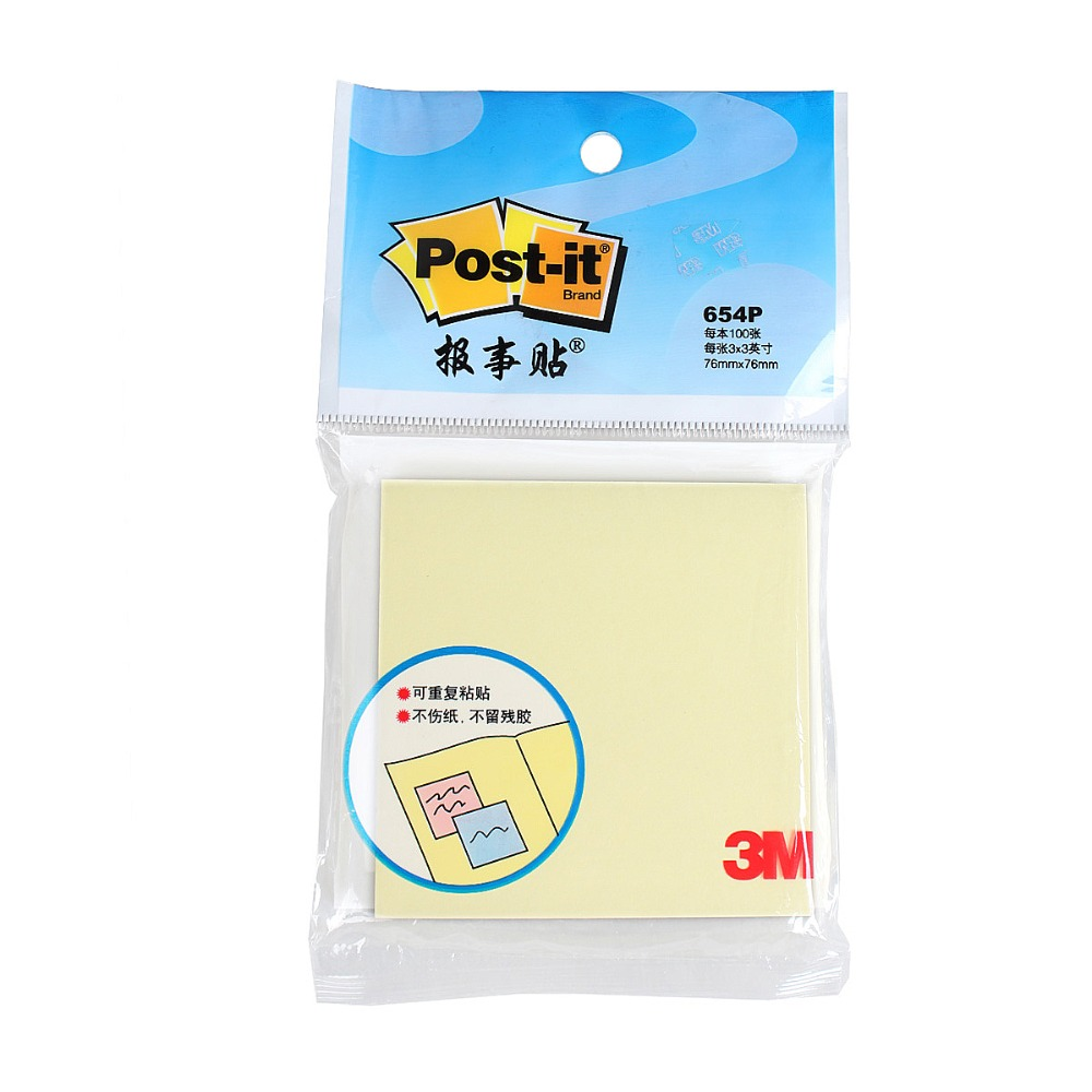 100 Sheets Per Pad Sticky Notes Can Pasted Times United States Brand 3M Post It Notepaper 654P Postite Sticky Sample Price