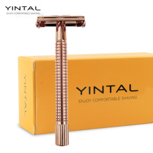 Safety Razor Long handle Brass Double Edge For Men Barber Shaver Men's Manual Classic Barber Shaving 1 Razor Simple packing цена