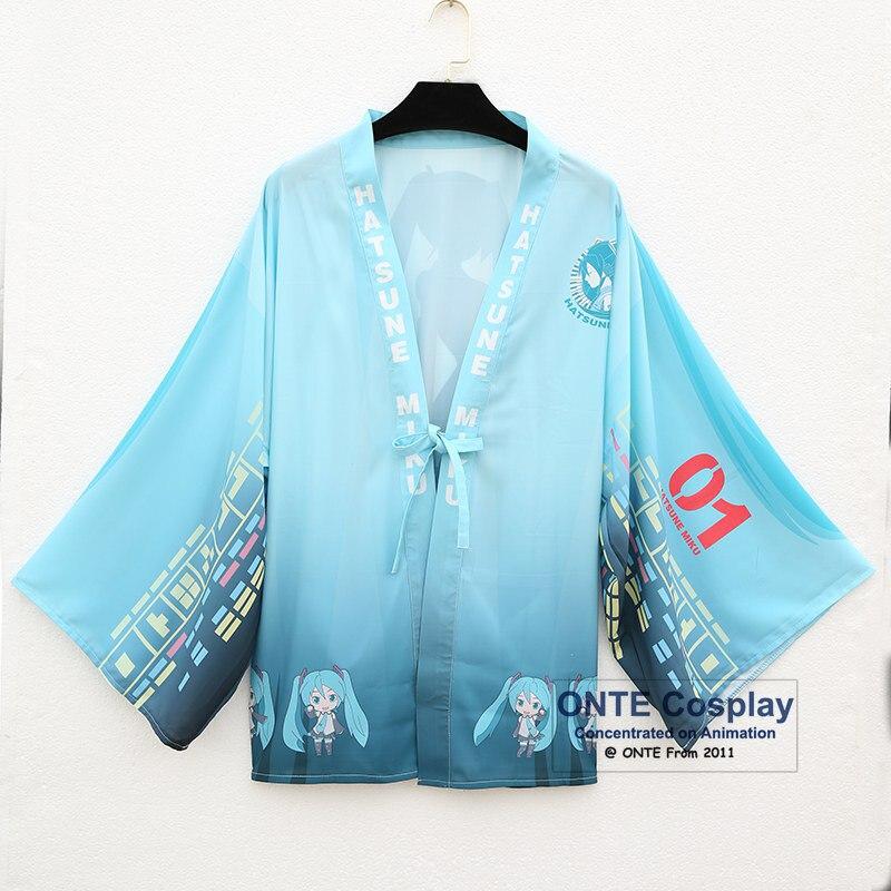 Anime Hatsune Miku Bathrobes Chiffon Pajamas Cloaks Costumes Unisex Fancy Kimono Robes