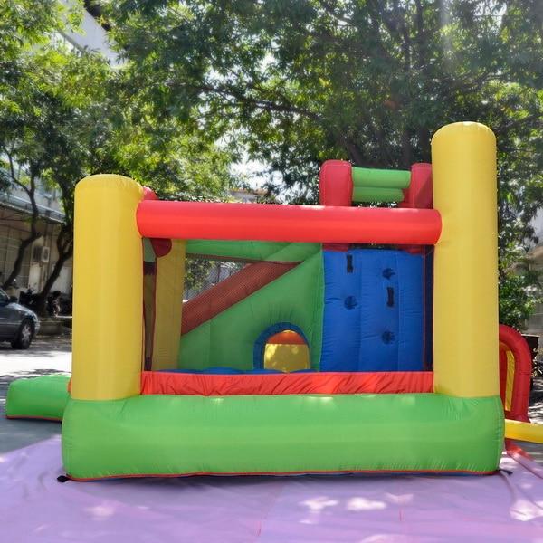 HTB1mCMZRpXXXXXiXXXXq6xXFXXX6 - Arshiner Trampoline Bounce House With Inflatable Kids Slide without Blower