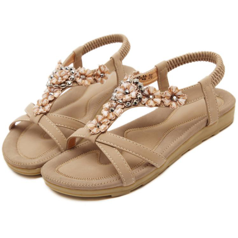 Changyuge 2018 Casual Neue Frauen Schuhe Böhmen Mode Frauen Sandalen Skid Blume Damen Schuhe Elegante Sommer Damen Sandalen