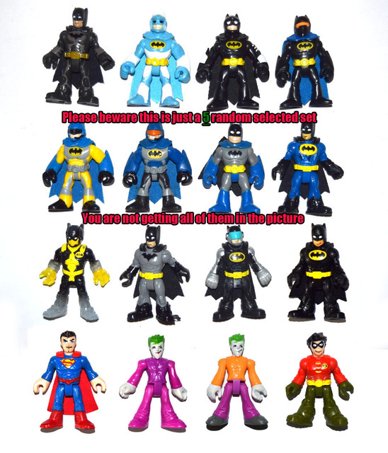 Lot Of 5 Pcs Imaginext Raondom Selected Batman Superman Joker Robin