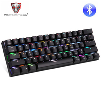 Motospeed CK62 Gaming Mechanical USB Bluetooth Wireless Keyboard With Backlight Gamer RGB For Computer PC Keycaps Key Cap Board