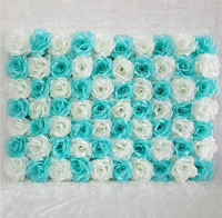 flower wall Silk rose tracery wall encryption floral background artificial flowers creative wedding stage 40*60cm