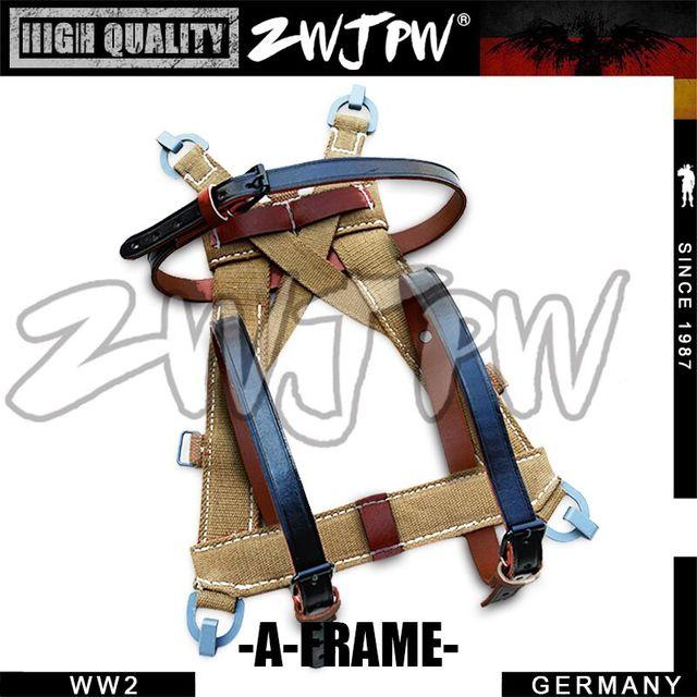 WW2 GERMAN ARMY TROPICAL A-FRAME STRAPS SOLIDER BAG -DE/451545