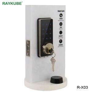 Image 3 - RAYKUBE ประตูล็อคอิเล็กทรอนิกส์หน้าจอสัมผัสรหัสผ่านดิจิตอล Mifare 13.56 Mhz IC เปิด Keyless Entry สมาร์ทประตูล็อค R X03