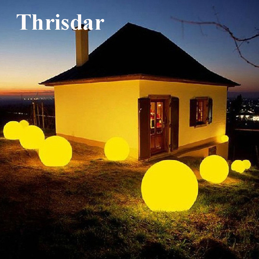 Thrisdar IP68 Led illuminated Swimming Pool Floating light With Remote Outdoor Garden Landscape Lawn RGB Glowing Ball Light