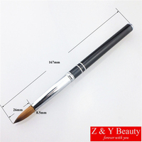 Factory Direct,Size 20,100% Kolinsky Acrylic Nail Brush,Metal Handle Nail Brush,Hot Sale!