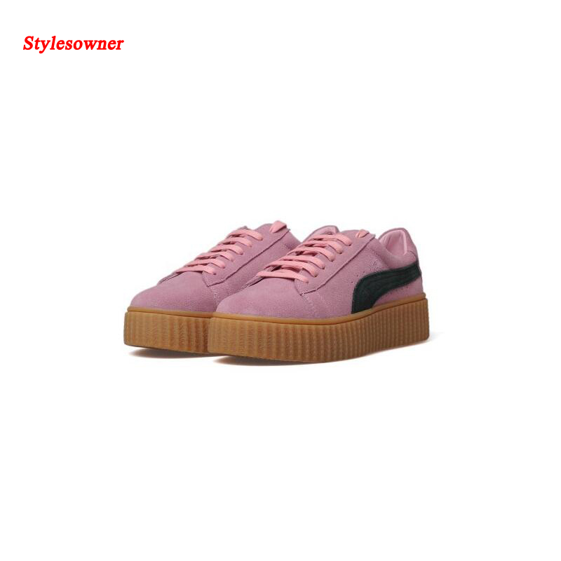 ФОТО Stylesowner Casual Shoes Women Classic Female Walking Shoes Zapatos Casuales Mujer Suede Leather Platform Flat Lace Up Shoes