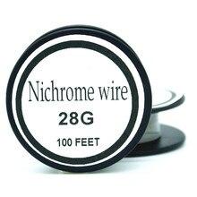 Nichrome wire 28 Gauge 100 FT 0 3mm Cantal Resistance font b Resistor b font AWG