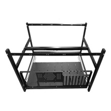 Professional Aluminum Steel Coin Open Air Mining Miner Frame Rig Case Suitable For 6 GPU4 Fans BTC LTC ETH Ethereum