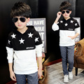 Hot Sale Stars Printed Boys Sweatshirts Kids Coat Hoodie Jacket Sweater Pullover Outwear Free Shipping
