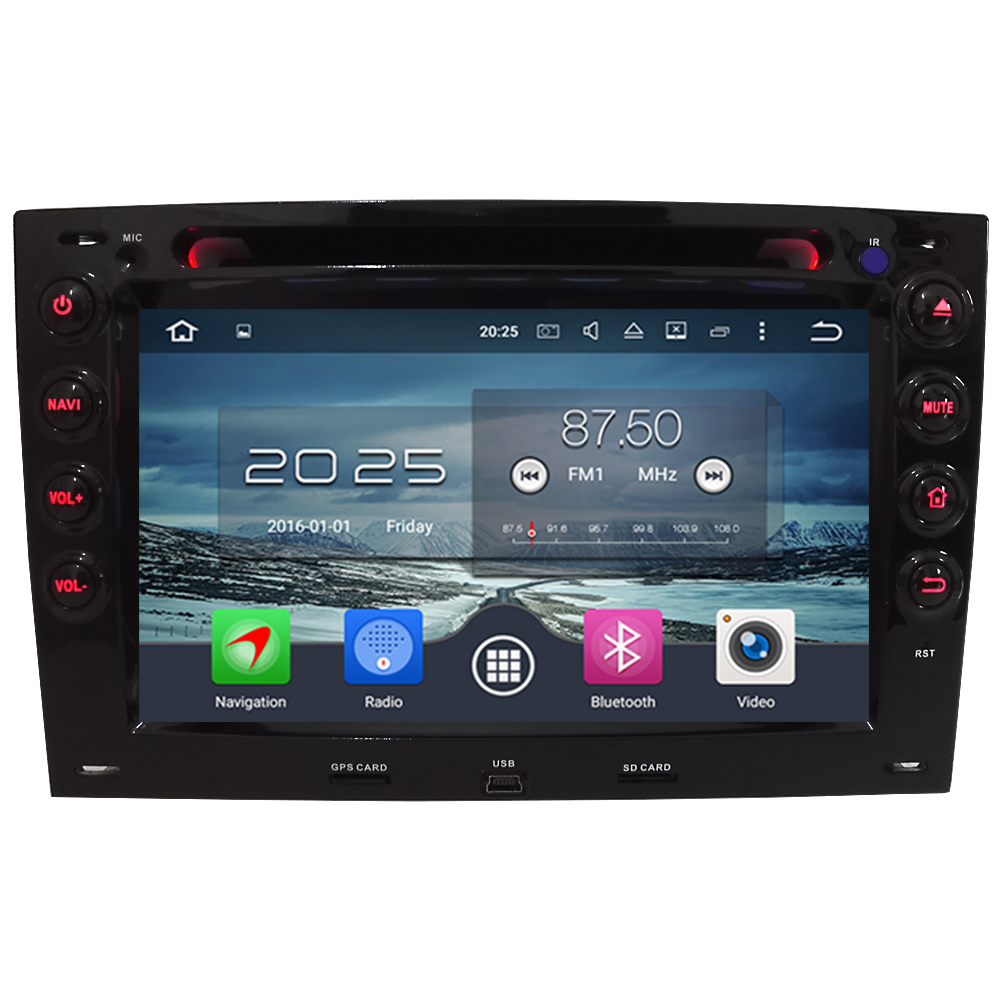 7 Octa Core WIFI Android 6.0 4 gb RAM 32 gb ROM 4g DAB + Voiture DVD Multimédia radio Audio GPS Lecteur Pour Renault Megane 2 2003-2010