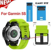 Souple En Silicone 20mm Largeur Garmin Fenix 5S En Plein Air Sport Bande de Silicone Facile Fit Bracelet, Bracelet en silicone pour Garmin Fenix 5S