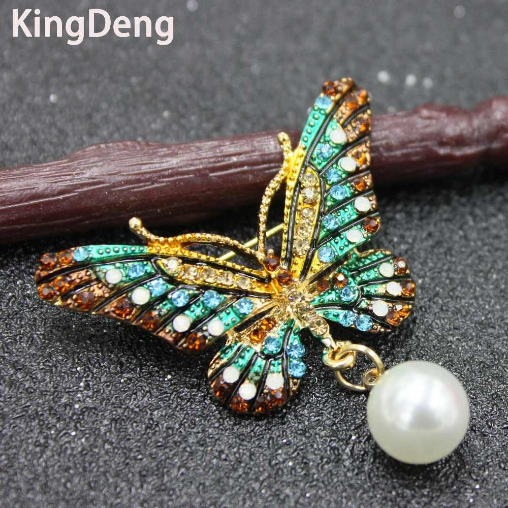 Butterfly Brooches For Women Accessories Enamel Pins Rhinestone Scarf Pin Lapel Pin For Kid Enamel Brooches Vintage Karl Jewelry