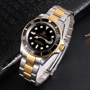 Image 3 - Reginald Reloj de acero japonés para hombre, Miyota Movt sólido Endlink, bisel giratorio, fecha GMT, relojes de cuarzo de acero inoxidable, resistente al agua