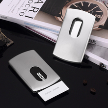 High-grade metal card holder stainless steel business portable push type, name box