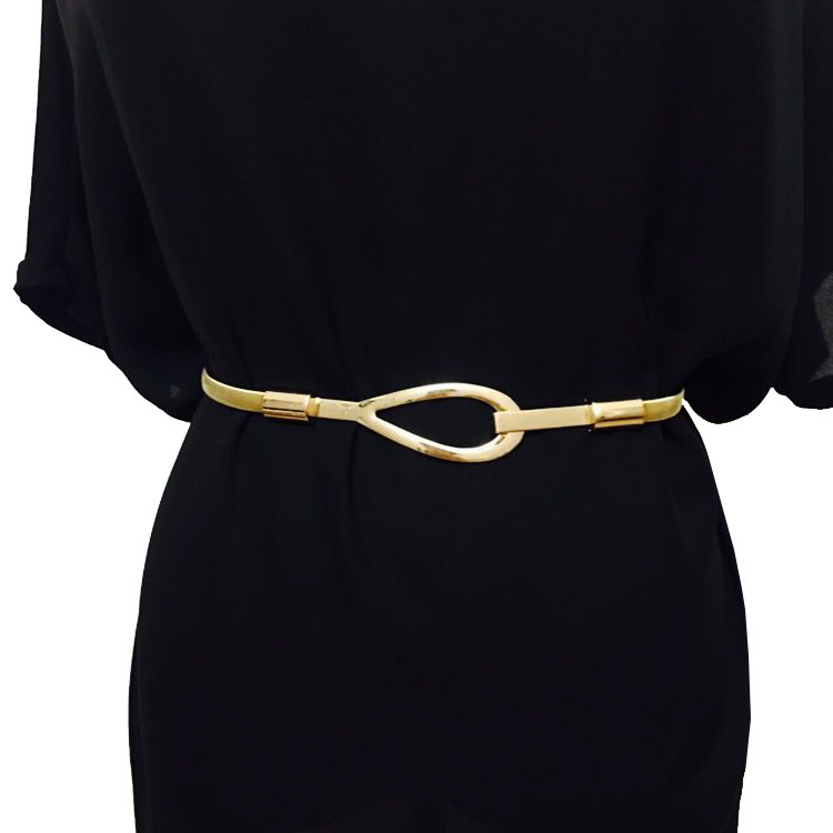 Available New Fashion Brand Luxury Metal   Belt   For Women Ms Elastic Waist Chains Female Wide Dress Metal   Belt   Ceinture Femme