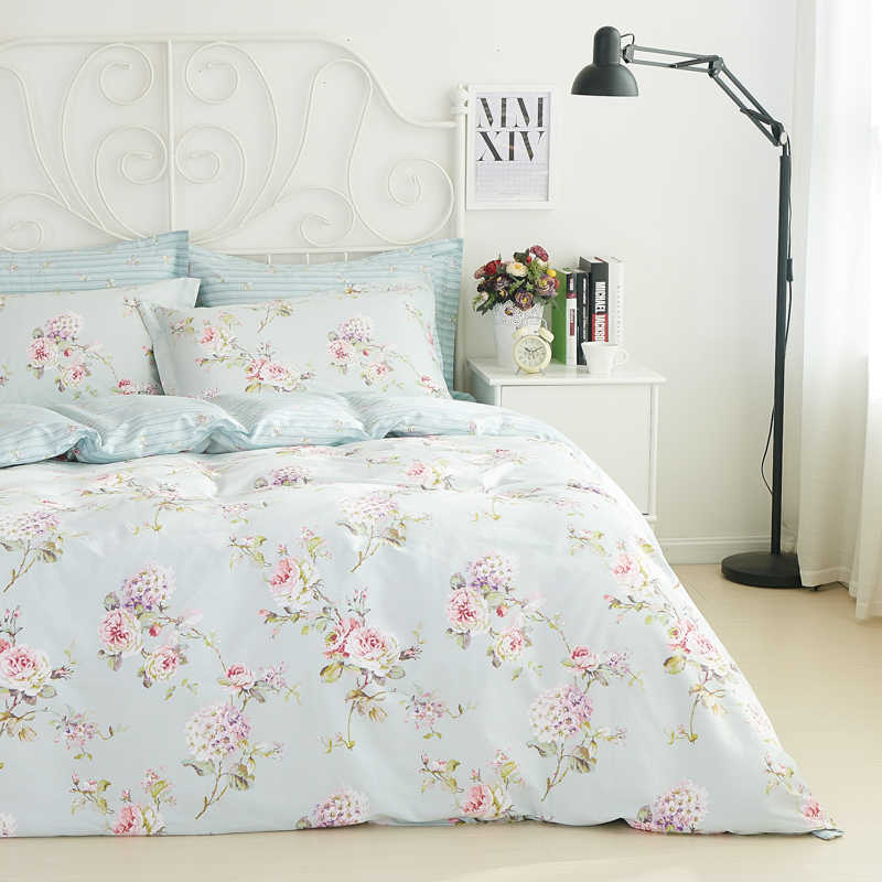 Romantic American Country Style Vintage Floral Bedroom Set,Designer Shabby  Girls Bedding Set,Modern Flowers Jacquard Bed Cover
