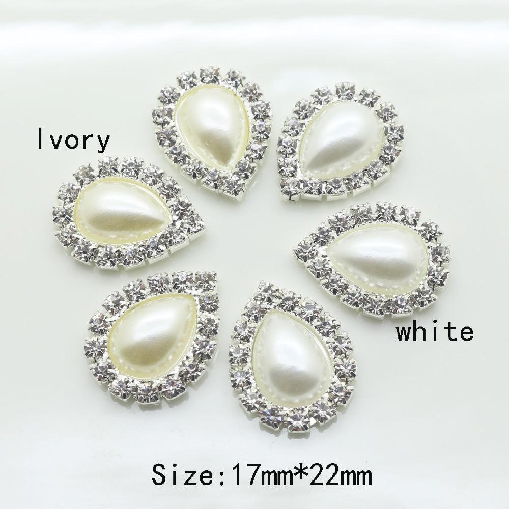 2017 New 10Pcs 17*22mm Imitation pearls Diy jewelry Accessories