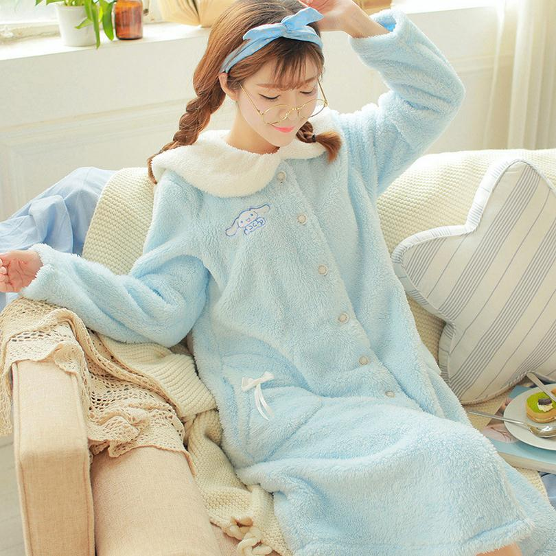 New winter cute long sleeve sleeping shirt nightgowns for Cute homeware accessories