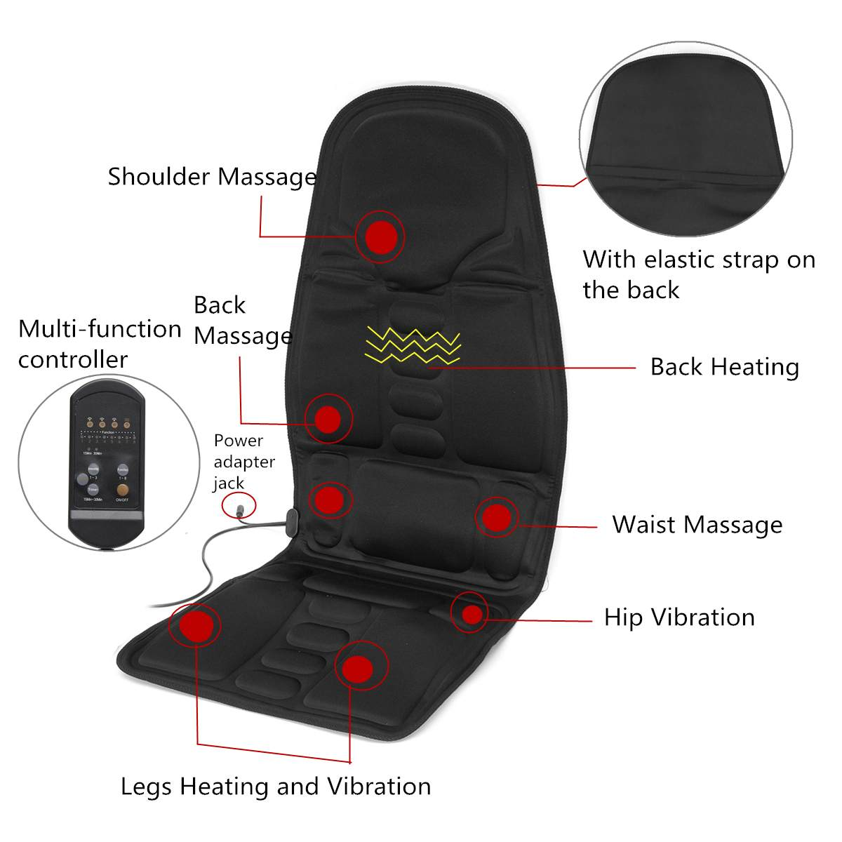 Apparel - Dual-Use Car and Home Vibration Massage Chair