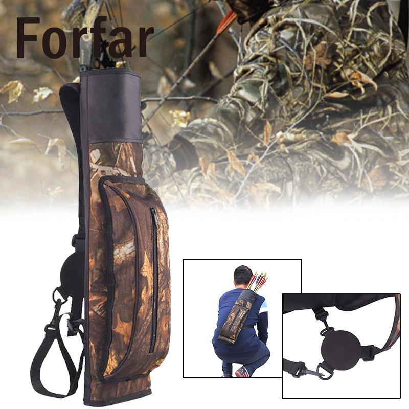 Forfar Archery Sports Universal Bag Arrow Carriers For Quick Hunting Shooting Sling Zipper Adjustable Case