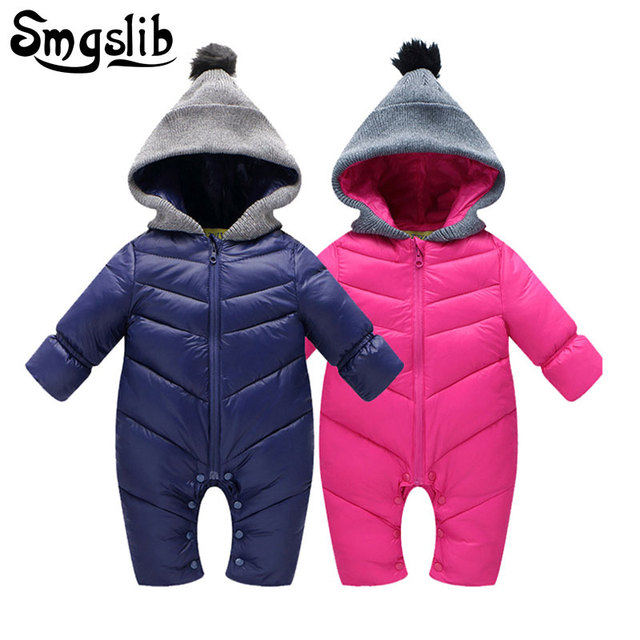 Baby winter clothes Cotton Padded Thick Baby Clothes Boy Overalls Newborn One Piece Romper Girl new year costume for boy onesie
